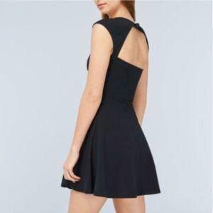 Aritzia Talula Palmetto Black Open Back Dress Mini